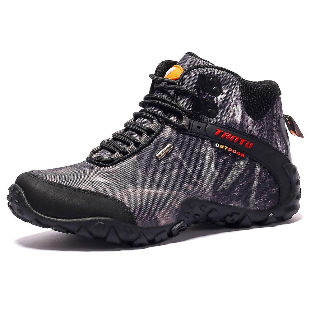 Nouveaux hommes chaussures de randonnée toile imperméable chaussures d'extérieur anti-dérapant escalade bottes de pêche baskets Sport chaussures de chasse