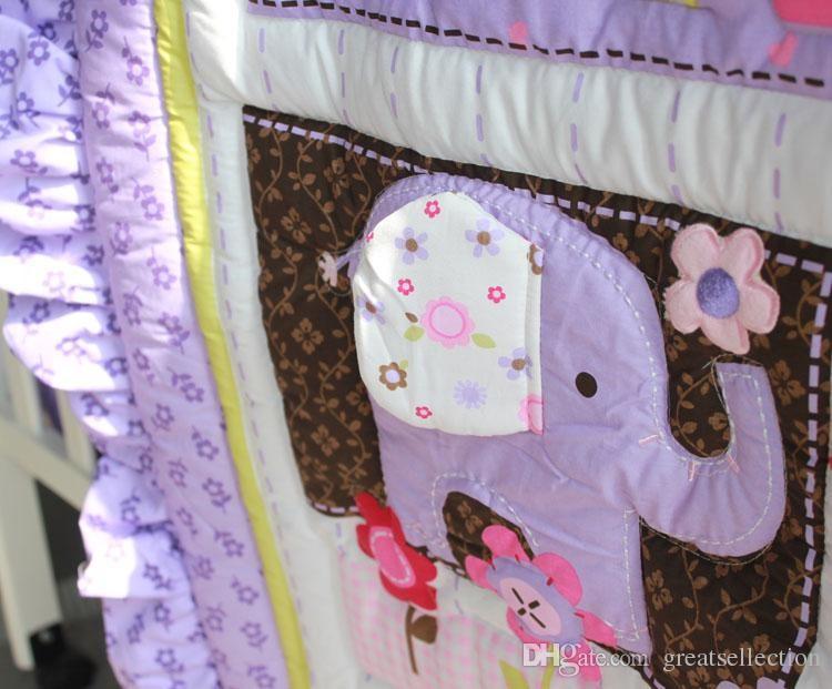 Purple-Animals-Girls-Baby-Crib-Bedding-set-3D-Embroidered-Owl-Elephant-Bird-Comforter-Bumpers-Sheet-Skirt (1)