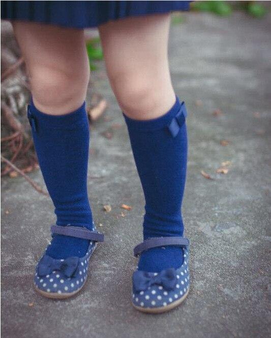 Baby-Girls-Knee-Socks-with-Bows-Girls-Princess-Bowknot-Socks-Kids-School-Socks-Long-Tube-Childrens-Leg-Warmer-Creamy-White-Blue-1