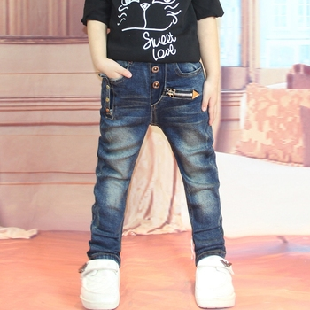 Children's clothing 2018 Spring Boys Pants Kids Pencil Trousers Baby Boy Slim Personality Leggings Autumn Jeans For 2 to 14 Yrs Boys Jeans