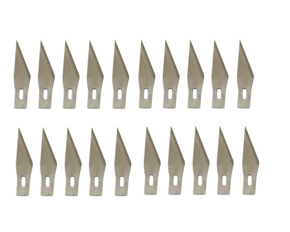 11# 20 Pcs Blades For Wood Carving Tools Engraving Craft Sculpture Knife Scalpel Cutting Tool PCB Repair