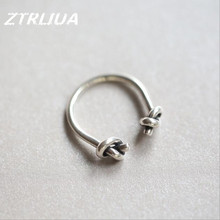 Punk Original 925 Sterling Silver Thai Sliver Fashion Wild Twisted Personality Opening Ring Simple Popular Jewelry     SR57