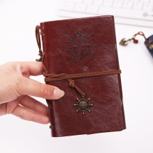 Spiral NoteBook Diary Book Vintage Pirate Anchors PU Leather Note Book Replaceable Xmas Gift Traveler Journal 1PC