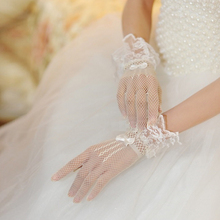 Women Evening Party Prom Costume Lace Gloves Solid Color Hollow Out Ladies Party Glove Apparel Accessories цена