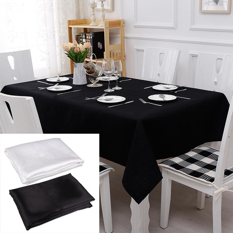 New 145x145CM Tablecloth Polyester Square Table Cloth Home Banquet Weeding  Decorative Table Cover Home Textiles Black