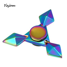 Free For shipping NEW Hand Fidget Spinner Stainless Steel Focus Desk Toy EDC Finger Gyro 2017 Brand New High Quality May 17