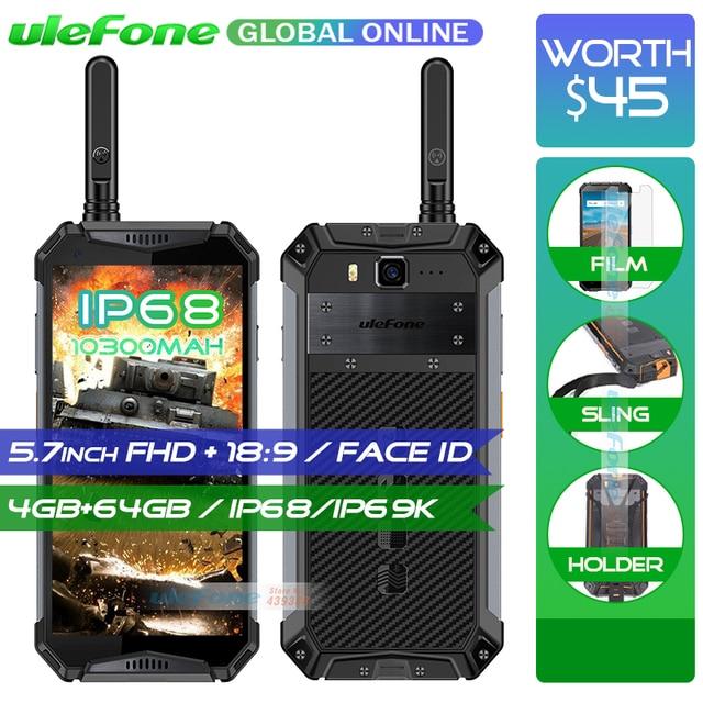 "Ulefone Armor 3T 10300mAh IP68/IP69K Waterproof Mobile Phone helio P23 5.7"" FHD+ Octa Core 4GB 64GB Walkie Talkie Smartphone"