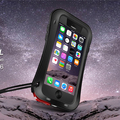 Cintura Heavy Duty Original LOVEMEI Aluminum Metal Case Gorilla Glass À Prova D' Água À Prova De Choque Para O Iphone 6 Plus 6