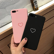 cc9959208af For iphone 5 5s se Case For iphone 6 7 Case For Fundas iphone 6s XS Max XR  X 7 8 Plus Case Cover Hard Heart Love Black Pink Case