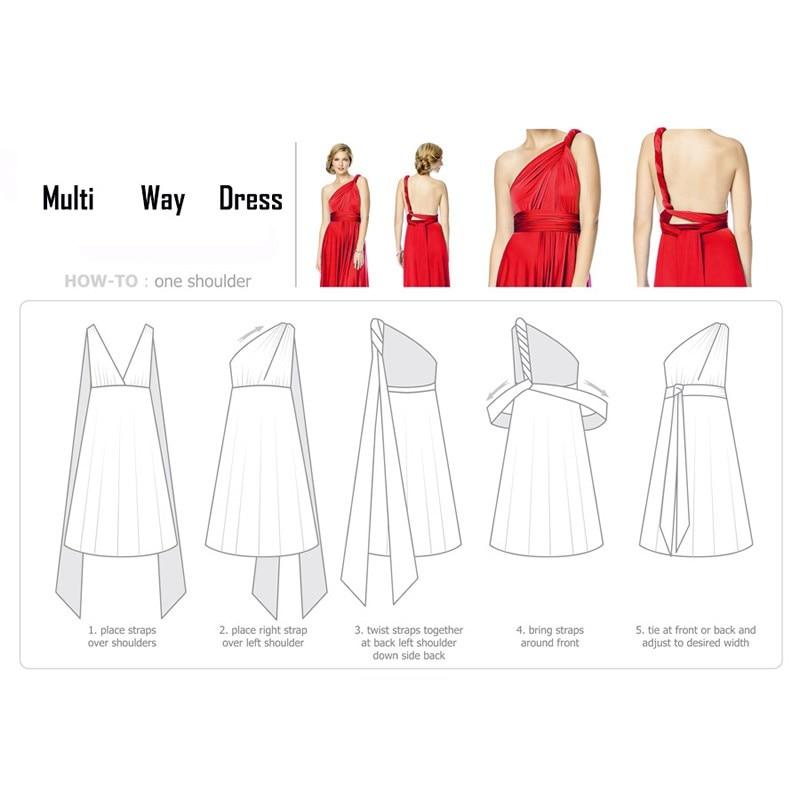 Sexy Long Dress Bridesmaid Formal Multi Way Wrap Convertible Infinity Maxi Dress Navy Blue Hollow Out Party Bandage Vestidos 37