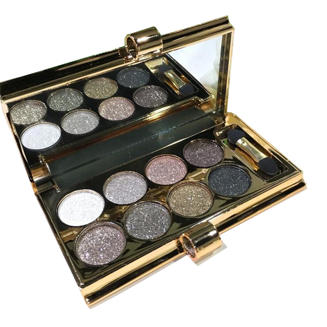 Профессионального 8-цвет красоты макияж тени diamond блестящие тени для век водонепроницаемый изысканные косметика бесплатная доставка G433