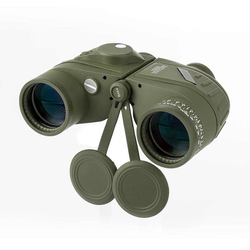 10x50 Waterproof Navy Telescope Fogproof HD Binoculars with rangefinder Compass Reticle Illuminant Night Vision Hunting