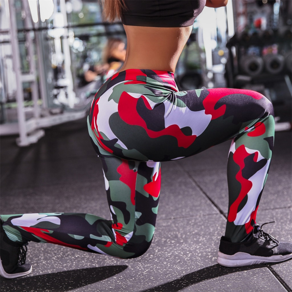 2019 Sexy women`s sports fitness yoga pants summer outdoor sports running pants tight high waist sexy beautiful hip pants 40M17 (11)