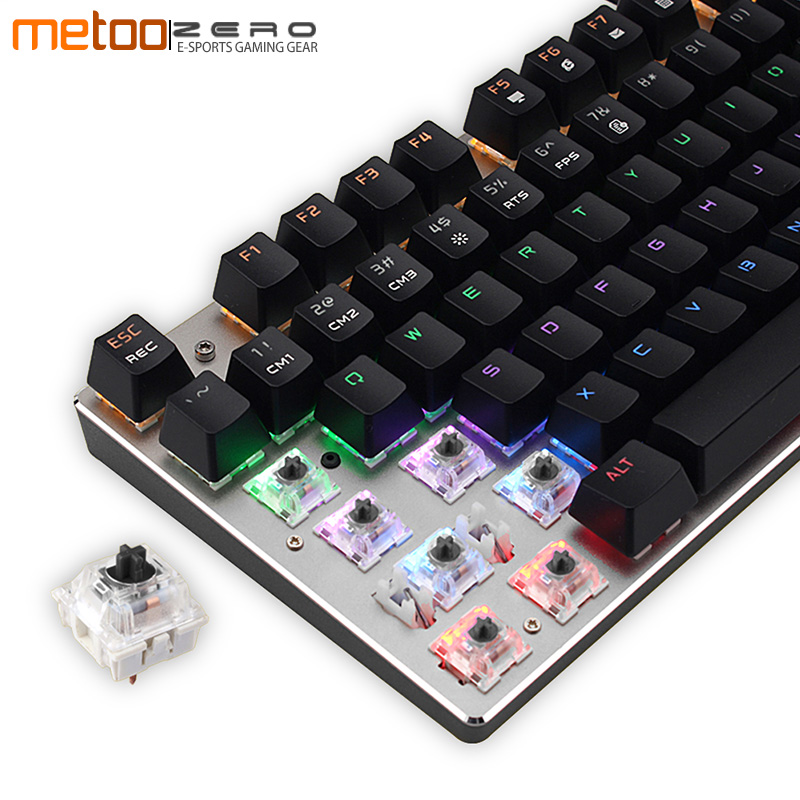 Russian English Profession Gaming Wired Mechanical Keyboard 104 Keys Red/Blue/Black Switch Full LED Backlit Anti-Ghosting