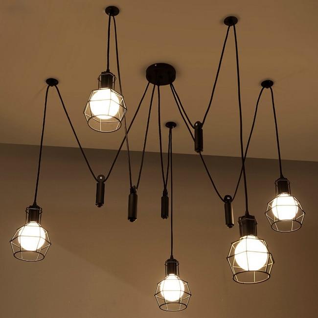 Vintage Pendant Light Industrial Lights Cage Lamp Loft Suspension