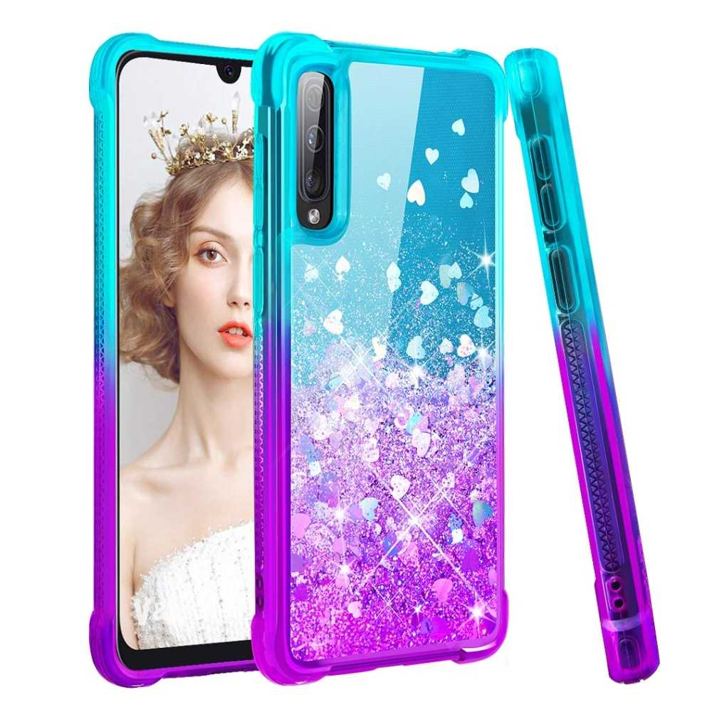 Case For Samsung Galaxy A70 A50 A40 A30 A20 A10 Cover Gradient Quicksand Glitter Silicone Case for Samsung Galaxy Note 10 Plus