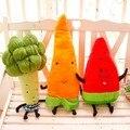 50 - 70 см фрукты подушка фаршированные овощи морковь, Арбуз, Творческие куклы брокколи плюшевые игрушки бесплатная доставка