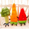 50-70 cm Fruit pillow stuffed vegetables carrots, watermelon, creative broccoli doll plush toys free shipping