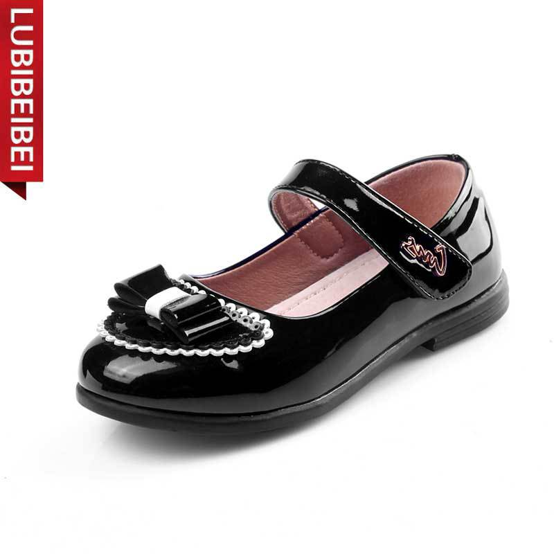 LUBIBEIBEI 2017 New Children Shoes Genuine Leather Fashion Show Shoes For Girls Casual Students Shoes Kids Wedding Shoes KS124
