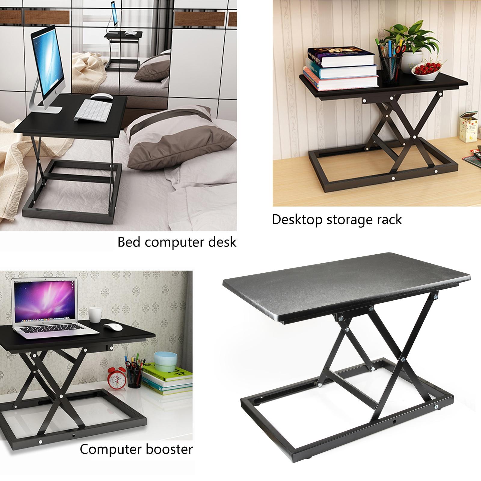 Регулируемая высота Кабриолет сидеть Встать Рабочий стол ноутбука, настольного компьютера стояк настольная рабочая станция - 6