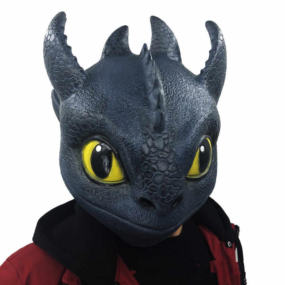 Alta Qualidade Anime Como treinar O Seu Dragão Cosplay Adereços Desdentado Mulheres Homens Role Playing Máscaras De Látex Máscara de Cabeça Cheia brinquedos Novos