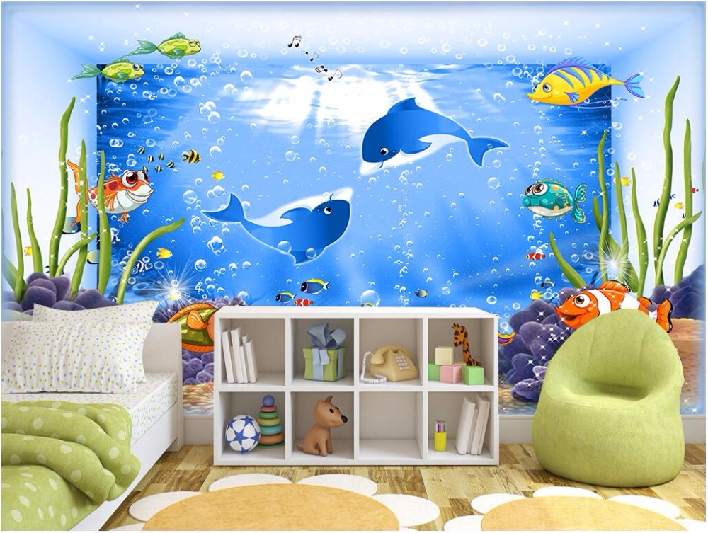 Compare prices on aquarium wall paper online shopping buy for Aquarium decoration paint