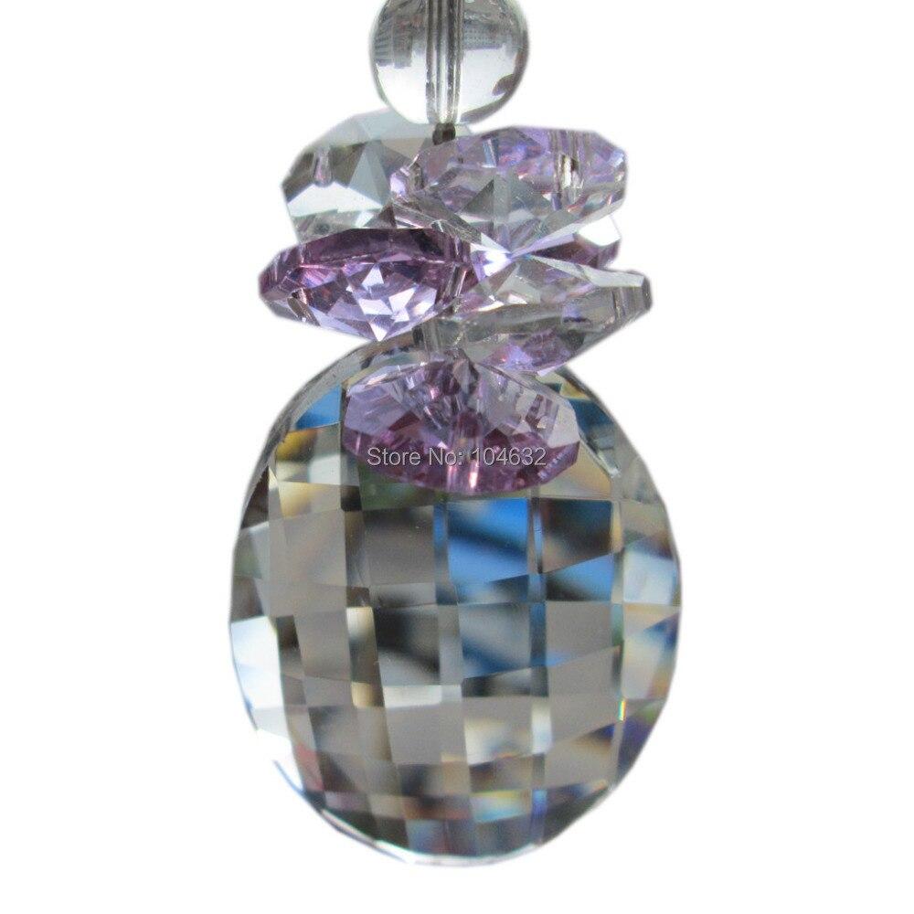 Feng shui 50mm crystal Pendents&14mm octagon beads healing crystals suncatcher wedding decorationcrystal chandelier parts N51