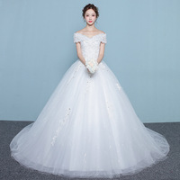 Real Pictures Ball Gown Bridal Dress Vintage Muslim Plus Size Lace Wedding Dress Princess with Sleeve pakaian pengantin