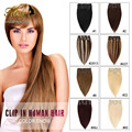Human Hair Clip In Extension 100% Human Remy Hair Human Clips Hair 24 Inch Straight Human Hair 10 Pcs Clip In Thick Extensions