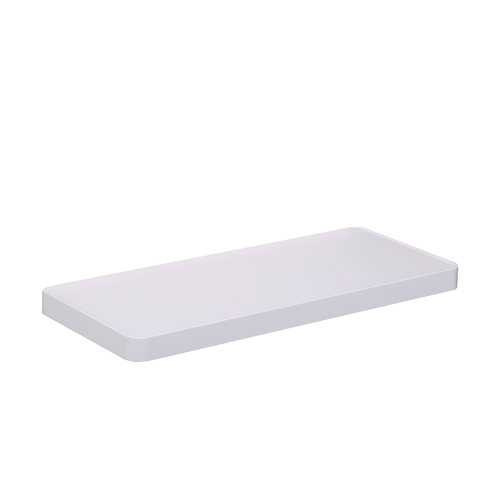 CRW Single Tier Shower Shelf Wall Mounted White ABS & Stainless ...