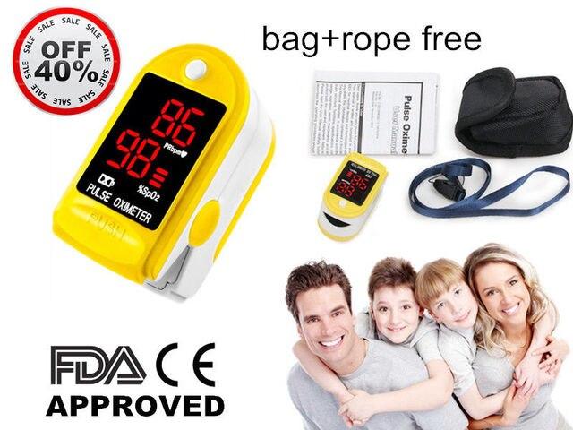 CE FDA FingerTip Pulse Oximeter LED Blood Oxygen SPO2 Pulse Heart rate monitor