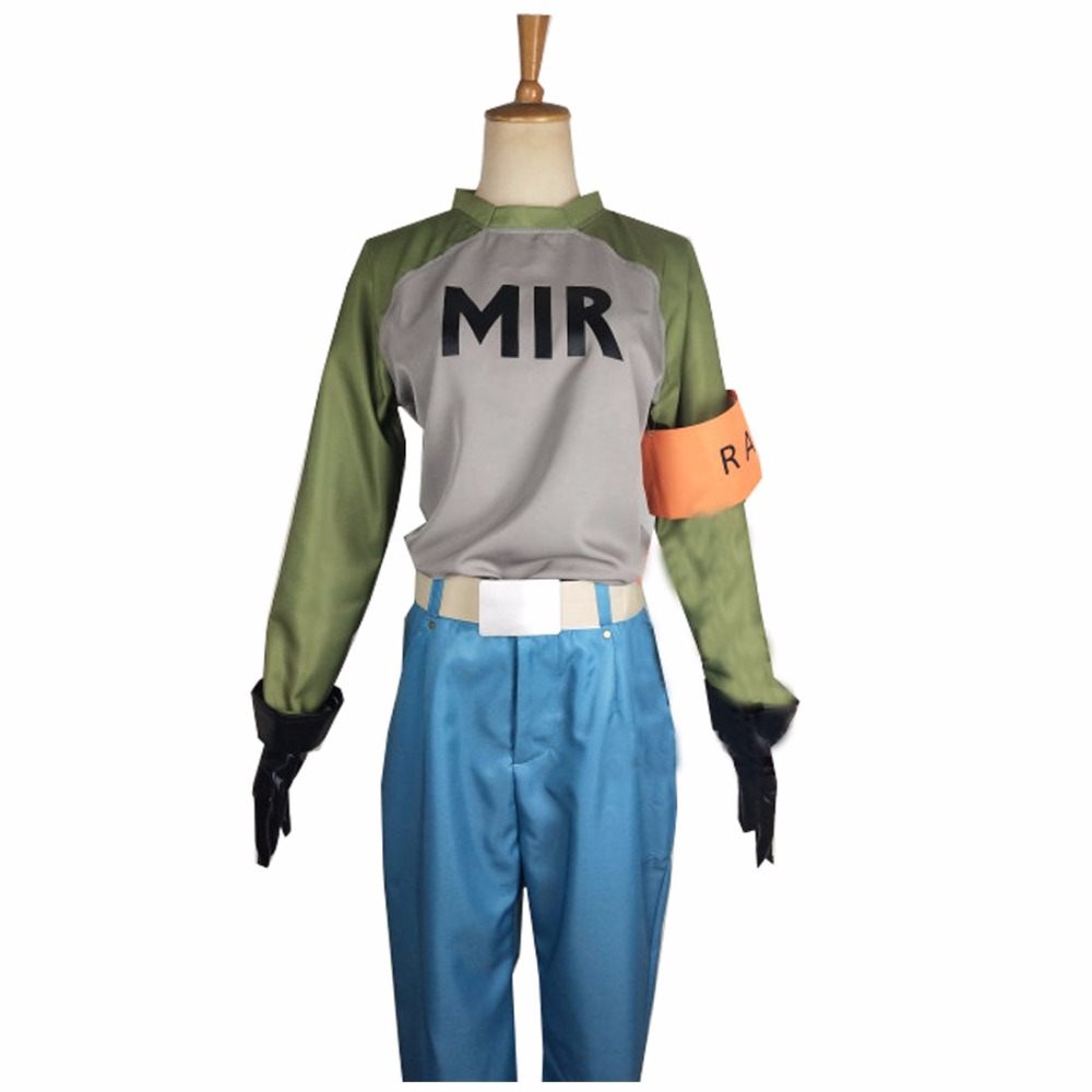 2018 Anime Dragon Ball Android 17 Cosplay Costume Adult Mens Womens Top Pants Suit Halloween Costume