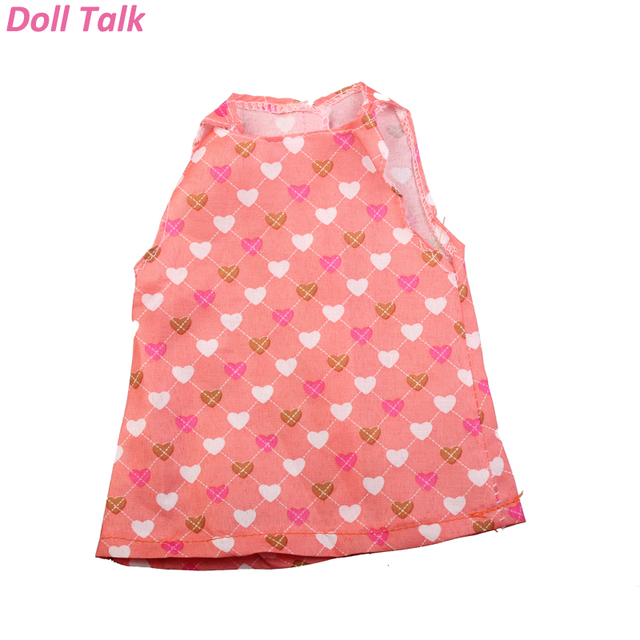 Doll Talk High Quality Fashion Doll Clothes Party Dress For 18 Inch American Liccs BJD Doll Girl Gift Heart Clothes Accessories