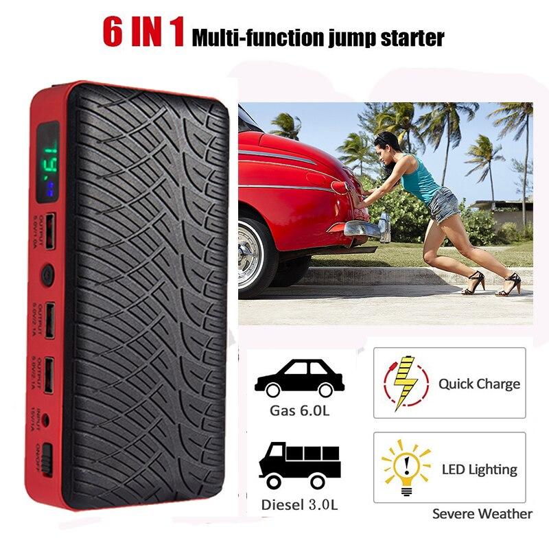 Jump Starter Car Battery 12V Boosters Diesel 26000mAh Portable car start LED Display Starting Device Emergency