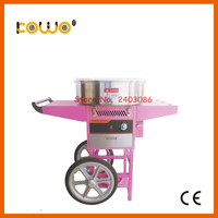 stainless steel NG lpg gas cotton candy floss machine ce RoH CB commercial 80w sweet sugar cotton candy maker kitchen appliances
