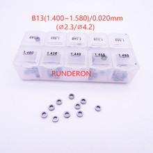 RUNDERON B13 Washer Shim Common Rail Fuel Injector Repair Adjustment Gasket Kit for-B.osch-C.ummins Size 1.400-1.580