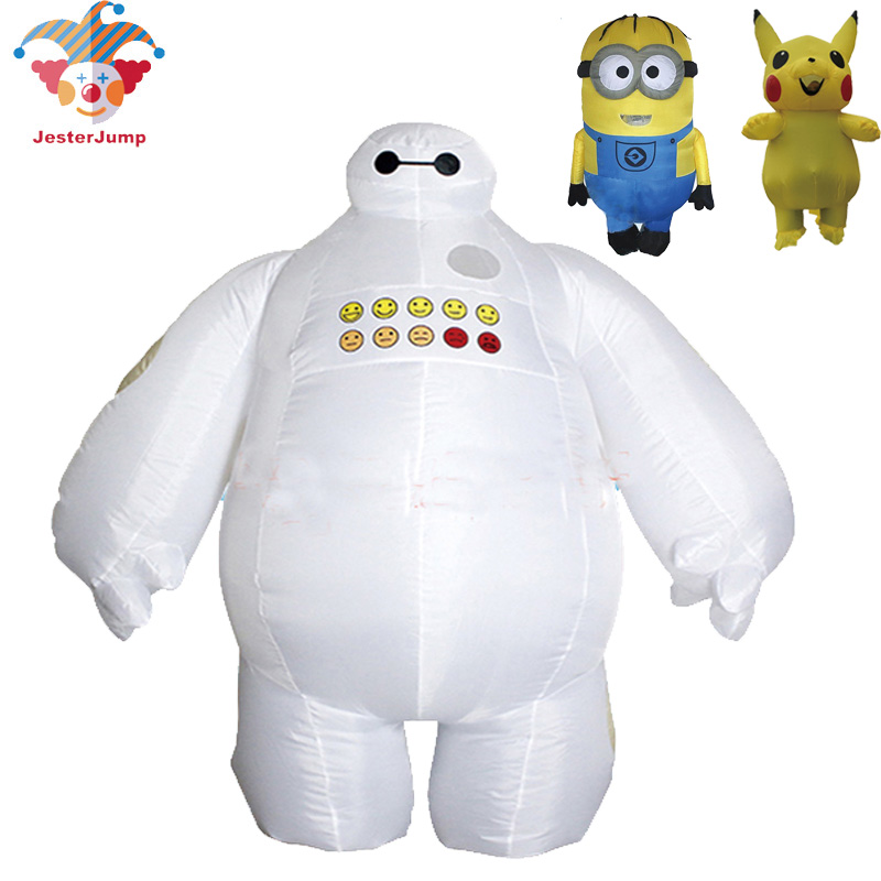 Costume Baymax pour adulte enfants grand héros 6 Fantasia Cosplay Halloween gonflable Baymax Costumes Minion Pikachu Costume pour femmes hommes