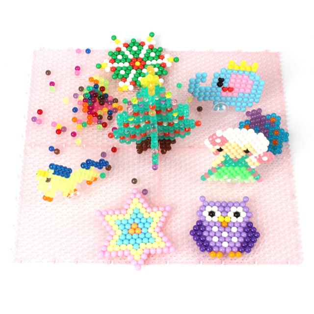 BTEFKR Beads 24 Color Puzzle 3d Beads Toys for Children Water Sticky Beads Speelgoed Jigsaw Puzzle Toy For Kids 200pcs/bag