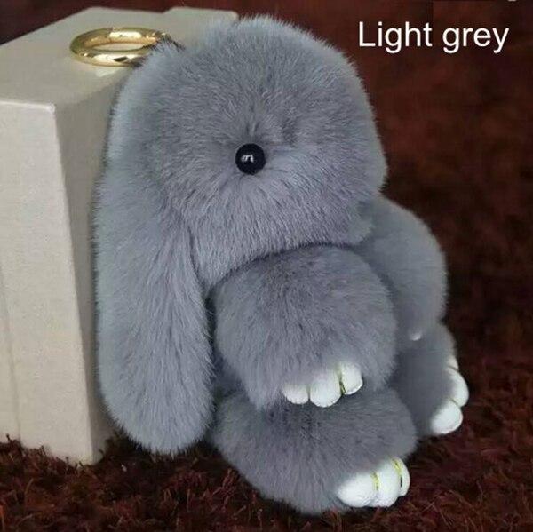 Epackfree 18 см Мех животных pom брелки реального Play Dead кролика рекс Мех животных Кролик Кукла кулон сумки сумка кулон брелки