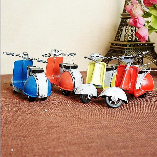 Ретро залізний міні-мотоцикл - Домашній декор - фото 4
