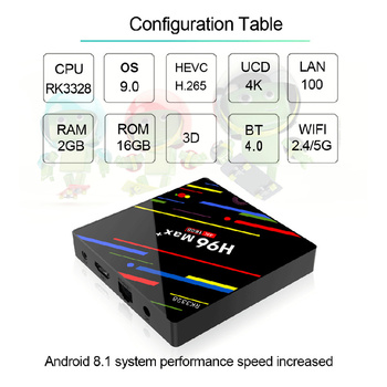X96H Android 9,0 TV Box 4GB 64GB Quad Core 6K TVbox 4G32G 3D Streaming  Media Player Set caja