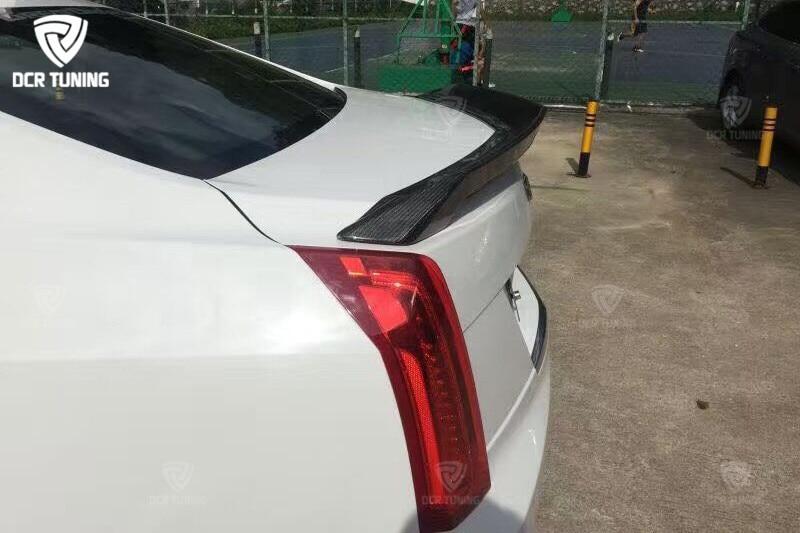 ATS Carbon Fiber Spoiler Rear Trunk Boot Tail D3 Model for Cadillac ATS 4-door Sedan 2015 + (2)