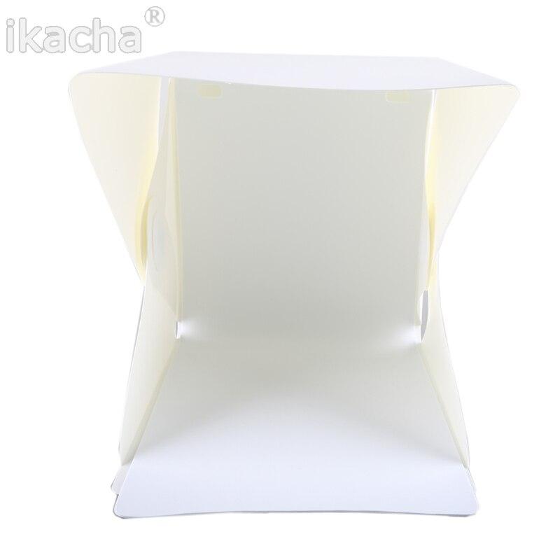 Mini caja plegable difusa de estudio flexible con luz LED, fondo - Cámara y foto - foto 2