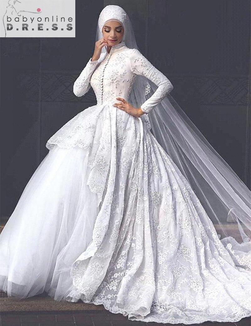 9a132d54fe0 Robe de mariage hijab 2017 ...