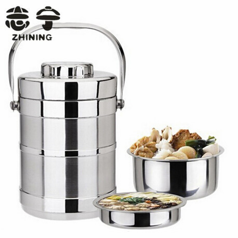 buy bento lunch box pot stainless steel 2 layers vacuum insulation thermos food. Black Bedroom Furniture Sets. Home Design Ideas