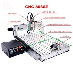 Image 5 - 4Axis Usb poort CNC 8060 2.2KW Spindel March3 ER20 Collet CNC Router 3D Metalen Snijmachine Aluminium Graveur CNC hout Frezen