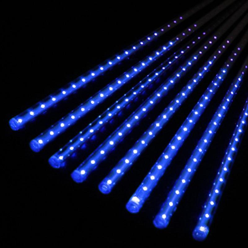 50cm LED Lights Meteor Shower Rain 8Tube Xmas Tree Outdoor Light EU Plug