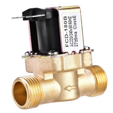 G1/2' Brass normally closed air solenoid valve N/C 12v 24v 220v G3/4'' Water Air Inlet Flow Switch for solar water heater valve недорго, оригинальная цена
