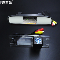 FUWAYDA SONY Assistance Car RearView Mirror Monitor with Car Rearview BackUp Reverse Parking Camera For Renault Koleos 2009 2014