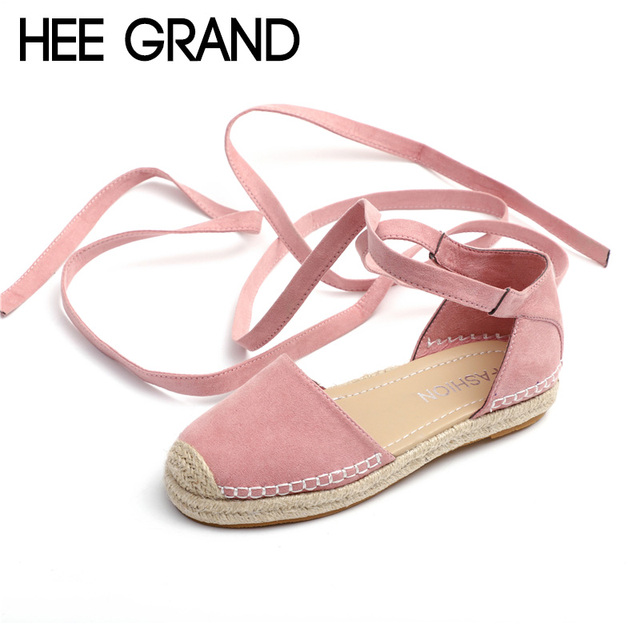 6905a5dca36 HEE GRAND Riband Lace-up Fashion 2018 New Summer Ladies Fishman Sandals  Woman Flat With Mujer Shoes Plus Size 35-43 XWZ4986